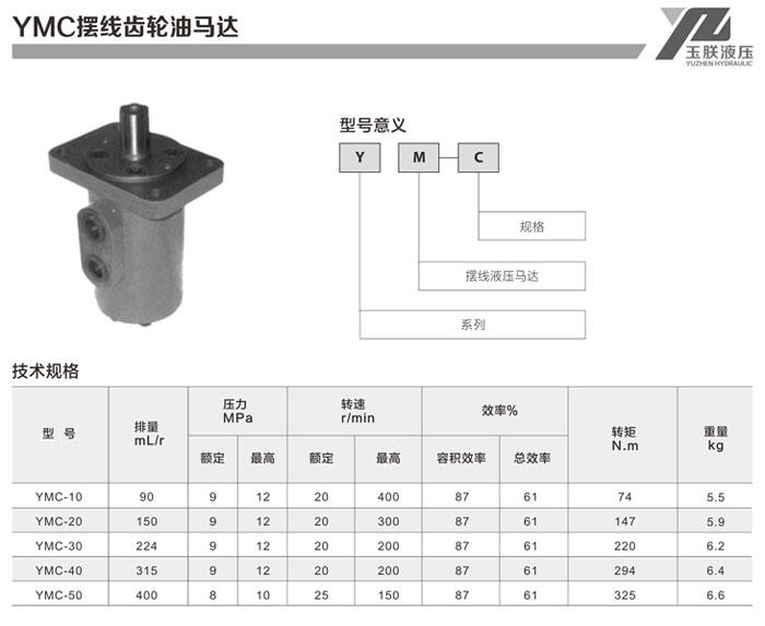 五星液压马达  ymc系列摆线马达产品特点